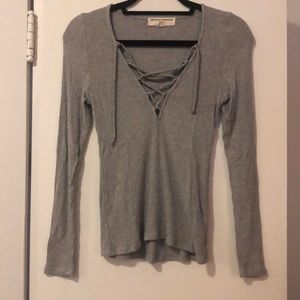 Project Social T • Urban Outfitters Lace front Top